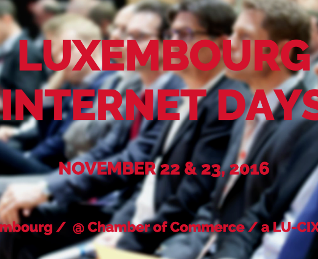 The Luxembourg Internet Days 2016 and the Winning Future